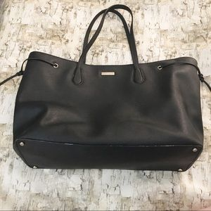 Kate Spade Coated Leather with Ties Black Tote